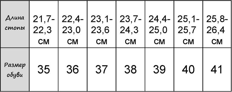 Таблица размеров обуви и одежды - photo#17