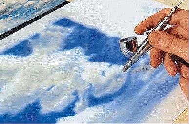 Как рисовать каплю аэрографом