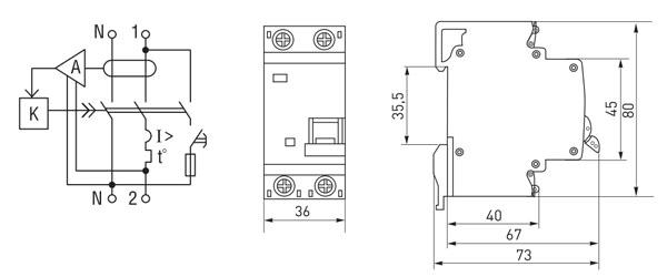 Дифавтомат АД-32 2-полюсный