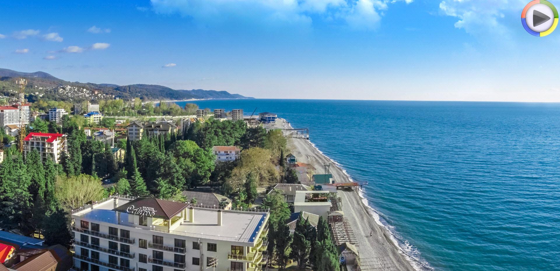 Лазаревская фото города и пляжа 2018