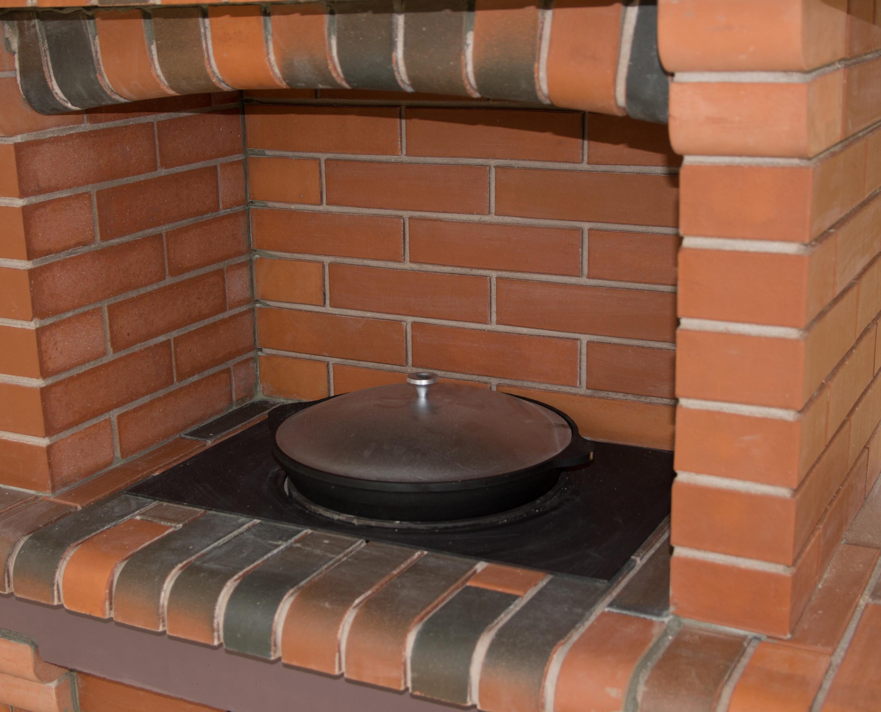 Мангал с плитой из кирпича своими руками: порядовка - Печное Дело 49
