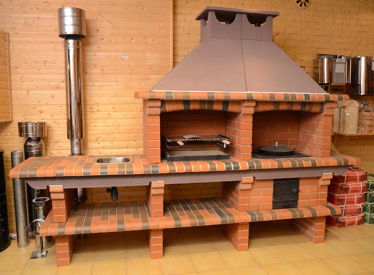 Садовый мангал с печью для казана своими руками