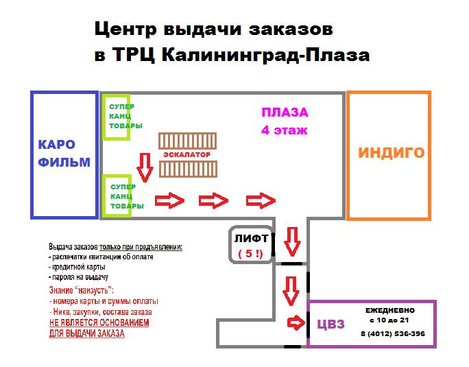 Центр выдачи заказов в ТРЦ