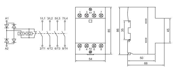Схема подключения модульного контактора iek