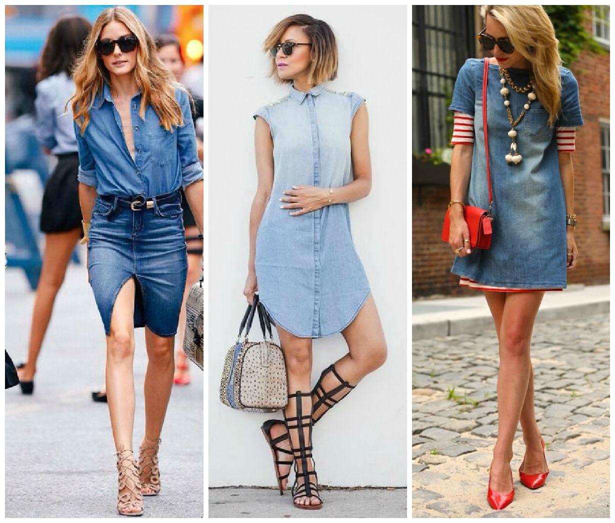 Модные джинсовые платья лето 2016