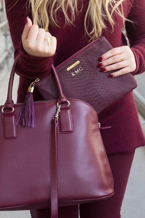 Модный бордовый цвет