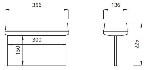 Размер светильника аварийного