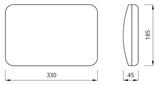 Размер аварийного светильника