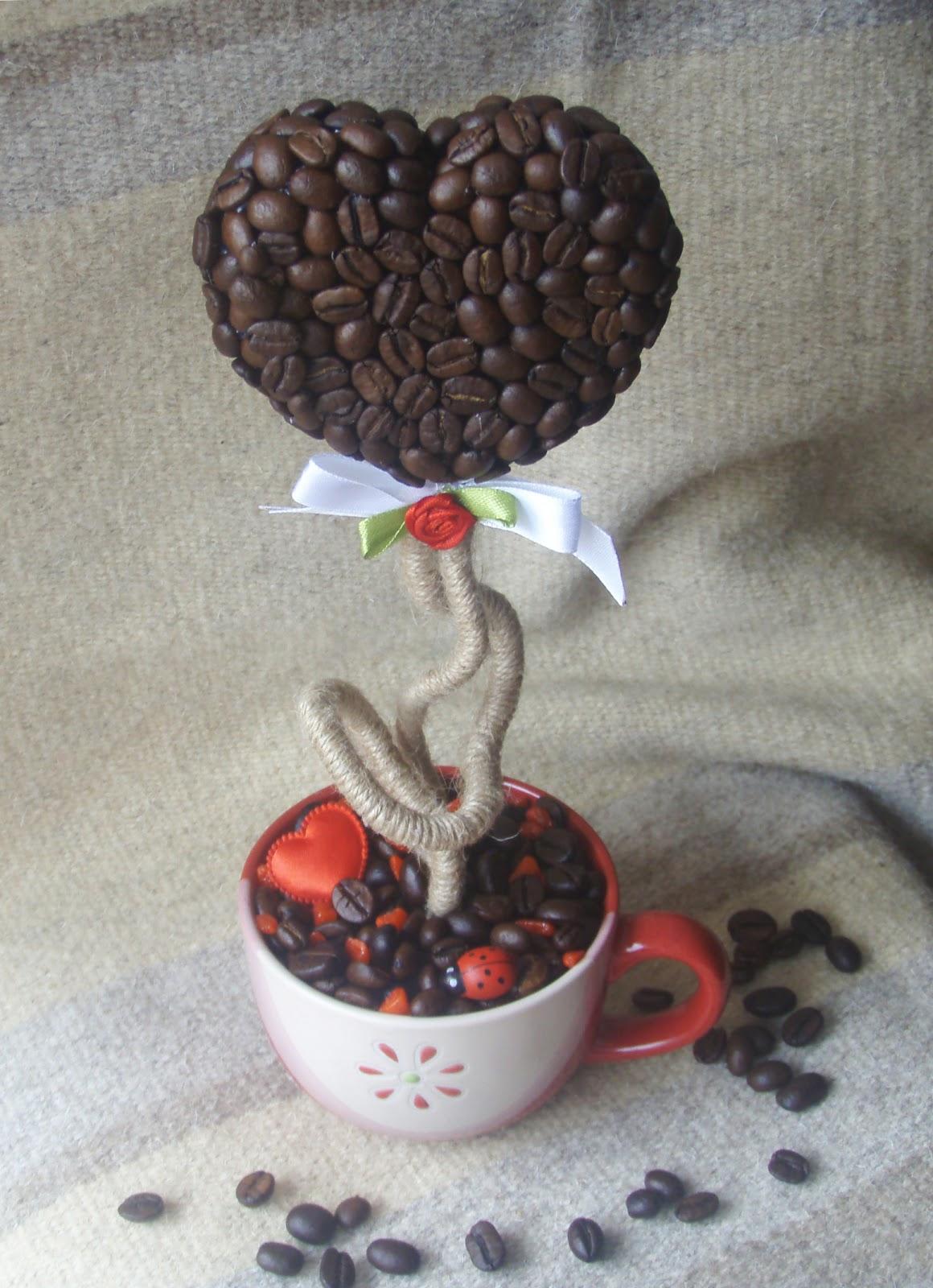 Как сделать цветок из кофе