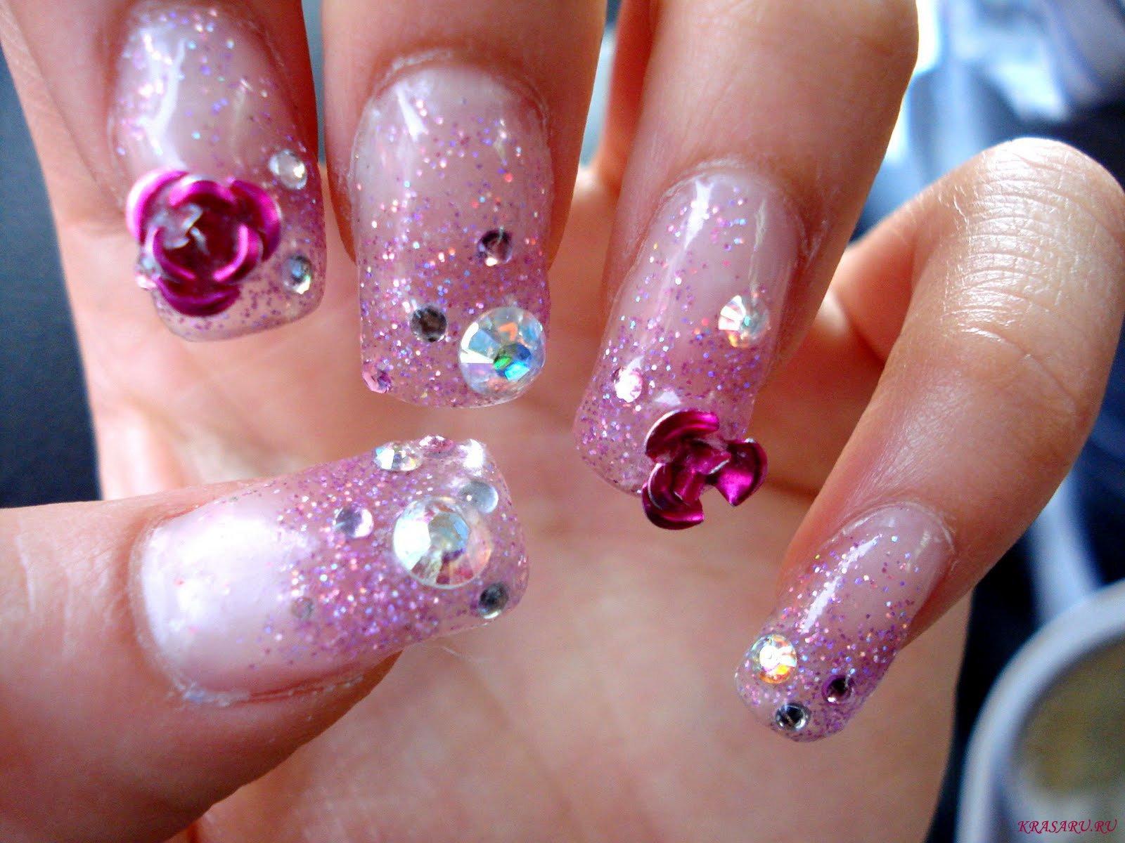 Аквариум дизайн ногтей фото