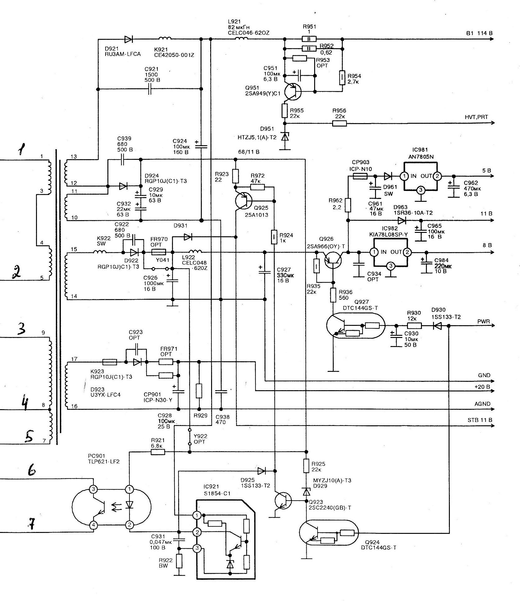 Схема на телевизор jvc шасси