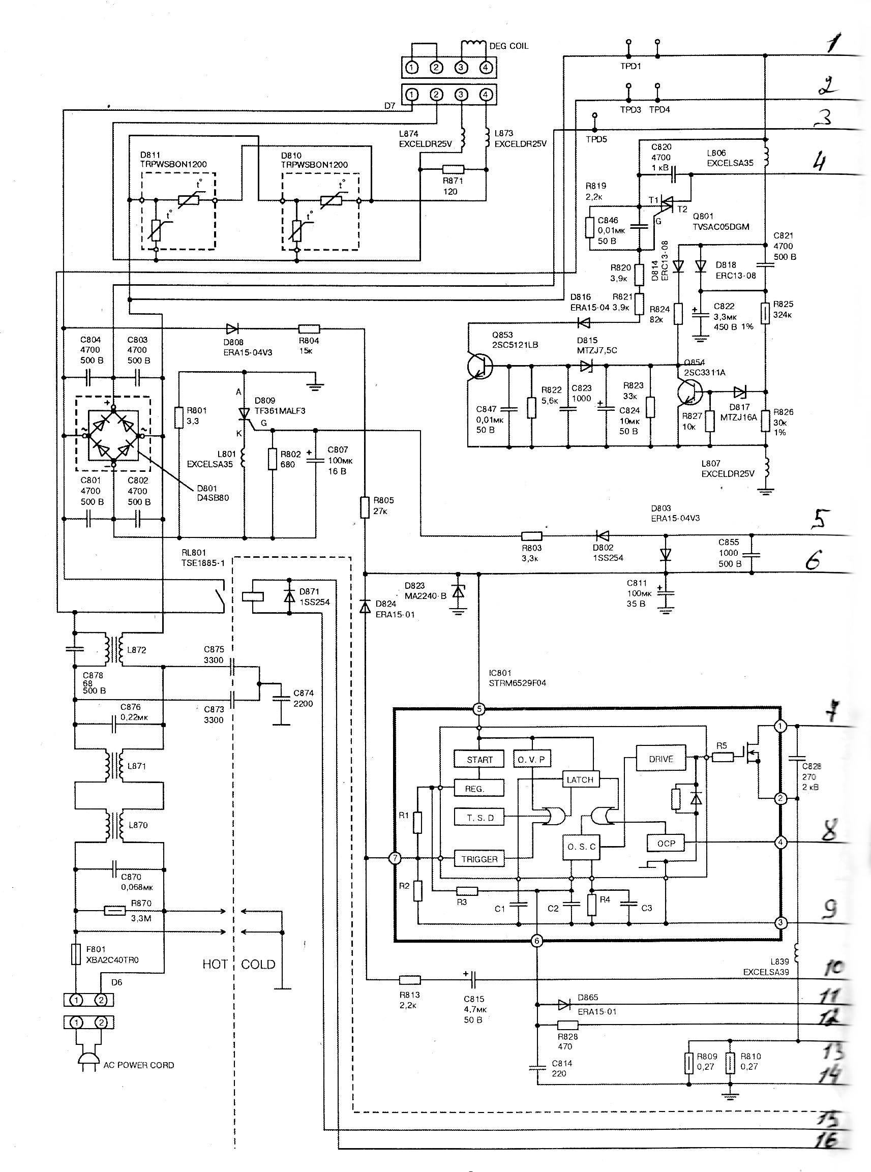 Схема блока питания телевизора панасоник тс-2150 rm