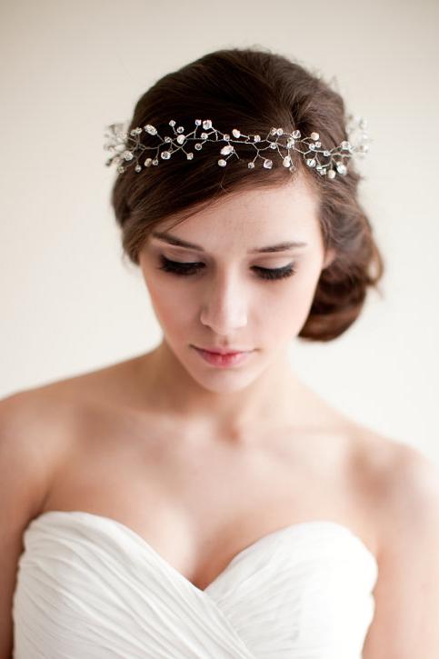 украшение на голове невесты своими руками