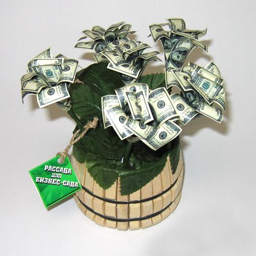 Цветок из денег на подарок 31