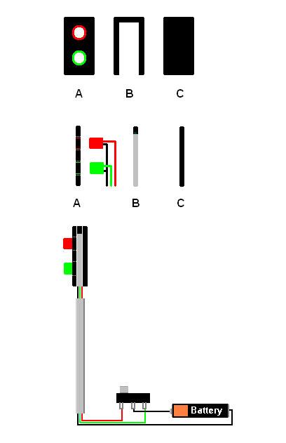 Схема сборки светофора