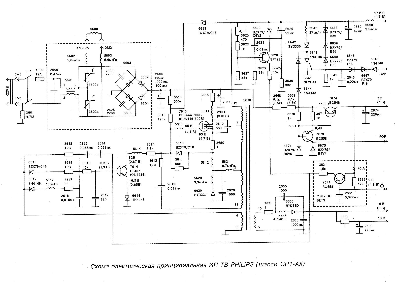 Philips 21pt133a 58r схема