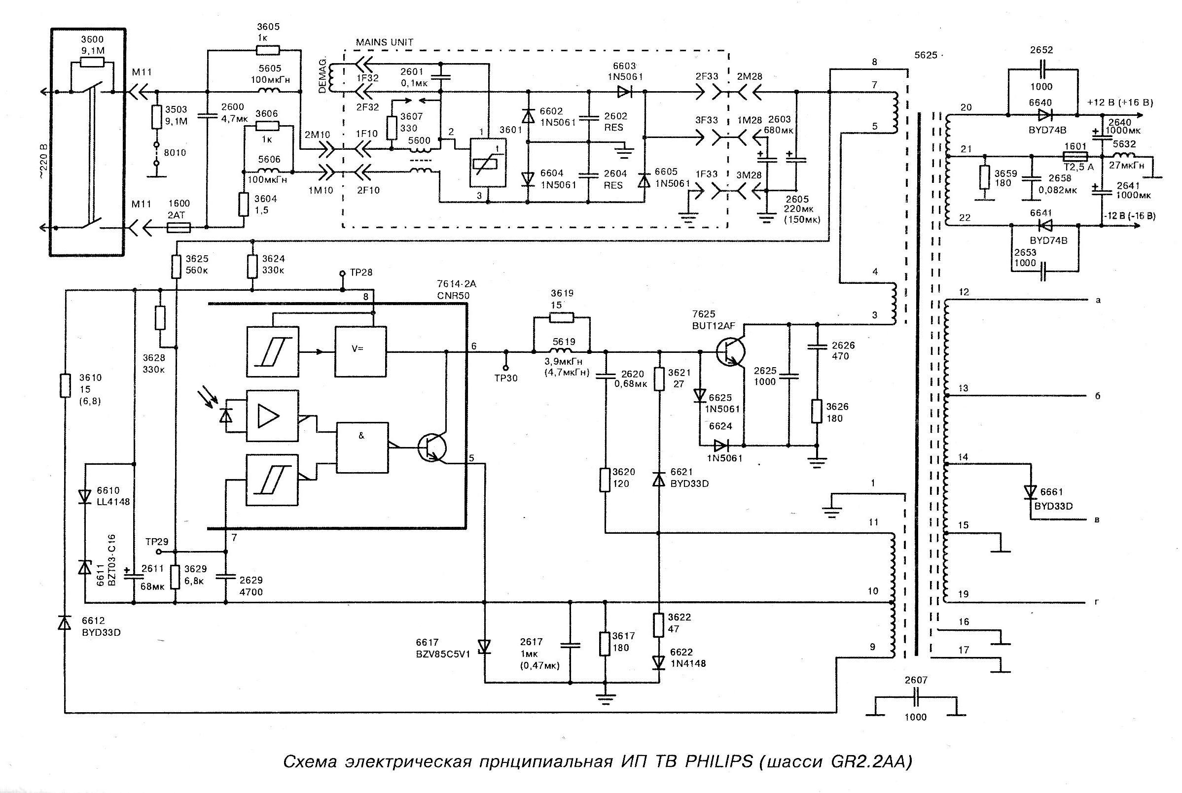 Блок схема телевизора филипс