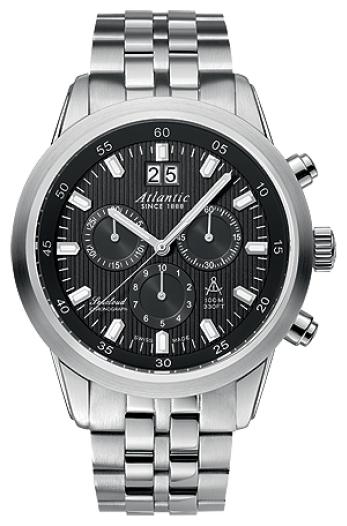 Atlantic 73465.41.61 - мужские наручные часы из коллекции SeacloudAtlantic<br><br><br>Бренд: Atlantic<br>Модель: Atlantic 73465.41.61<br>Артикул: 73465.41.61<br>Вариант артикула: None<br>Коллекция: Seacloud<br>Подколлекция: None<br>Страна: Швейцария<br>Пол: мужские<br>Тип механизма: кварцевые<br>Механизм: RONDA 5040B<br>Количество камней: None<br>Автоподзавод: None<br>Источник энергии: от батарейки<br>Срок службы элемента питания: None<br>Дисплей: стрелки<br>Цифры: отсутствуют<br>Водозащита: WR 100<br>Противоударные: None<br>Материал корпуса: нерж. сталь<br>Материал браслета: нерж. сталь<br>Материал безеля: None<br>Стекло: сапфировое<br>Антибликовое покрытие: есть<br>Цвет корпуса: None<br>Цвет браслета: None<br>Цвет циферблата: None<br>Цвет безеля: None<br>Размеры: 43 мм<br>Диаметр: None<br>Диаметр корпуса: None<br>Толщина: None<br>Ширина ремешка: None<br>Вес: None<br>Спорт-функции: секундомер<br>Подсветка: стрелок<br>Вставка: None<br>Отображение даты: число<br>Хронограф: есть<br>Таймер: None<br>Термометр: None<br>Хронометр: None<br>GPS: None<br>Радиосинхронизация: None<br>Барометр: None<br>Скелетон: None<br>Дополнительная информация: None<br>Дополнительные функции: None