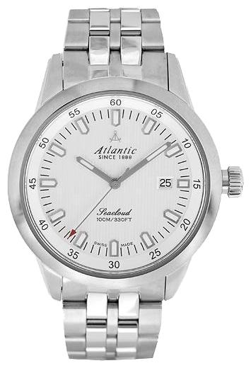 Atlantic 73365.41.21 - мужские наручные часы из коллекции SeacloudAtlantic<br><br><br>Бренд: Atlantic<br>Модель: Atlantic 73365.41.21<br>Артикул: 73365.41.21<br>Вариант артикула: None<br>Коллекция: Seacloud<br>Подколлекция: None<br>Страна: Швейцария<br>Пол: мужские<br>Тип механизма: кварцевые<br>Механизм: ETA F06.111<br>Количество камней: None<br>Автоподзавод: None<br>Источник энергии: от батарейки<br>Срок службы элемента питания: None<br>Дисплей: стрелки<br>Цифры: отсутствуют<br>Водозащита: WR 100<br>Противоударные: None<br>Материал корпуса: нерж. сталь<br>Материал браслета: нерж. сталь<br>Материал безеля: None<br>Стекло: сапфировое<br>Антибликовое покрытие: есть<br>Цвет корпуса: None<br>Цвет браслета: None<br>Цвет циферблата: None<br>Цвет безеля: None<br>Размеры: 41x10 мм<br>Диаметр: None<br>Диаметр корпуса: None<br>Толщина: None<br>Ширина ремешка: None<br>Вес: None<br>Спорт-функции: None<br>Подсветка: стрелок<br>Вставка: None<br>Отображение даты: число<br>Хронограф: None<br>Таймер: None<br>Термометр: None<br>Хронометр: None<br>GPS: None<br>Радиосинхронизация: None<br>Барометр: None<br>Скелетон: None<br>Дополнительная информация: None<br>Дополнительные функции: None