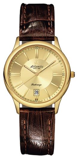 Atlantic 21350.45.31 - женские наручные часы из коллекции SeabreezeAtlantic<br><br><br>Бренд: Atlantic<br>Модель: Atlantic 21350.45.31<br>Артикул: 21350.45.31<br>Вариант артикула: None<br>Коллекция: Seabreeze<br>Подколлекция: None<br>Страна: Швейцария<br>Пол: женские<br>Тип механизма: кварцевые<br>Механизм: ETA F06.111<br>Количество камней: None<br>Автоподзавод: None<br>Источник энергии: от батарейки<br>Срок службы элемента питания: None<br>Дисплей: стрелки<br>Цифры: отсутствуют<br>Водозащита: WR 50<br>Противоударные: None<br>Материал корпуса: нерж. сталь, PVD покрытие (полное)<br>Материал браслета: кожа (теленок)<br>Материал безеля: None<br>Стекло: сапфировое<br>Антибликовое покрытие: None<br>Цвет корпуса: None<br>Цвет браслета: None<br>Цвет циферблата: None<br>Цвет безеля: None<br>Размеры: 32 мм<br>Диаметр: None<br>Диаметр корпуса: None<br>Толщина: None<br>Ширина ремешка: None<br>Вес: None<br>Спорт-функции: None<br>Подсветка: None<br>Вставка: None<br>Отображение даты: число<br>Хронограф: None<br>Таймер: None<br>Термометр: None<br>Хронометр: None<br>GPS: None<br>Радиосинхронизация: None<br>Барометр: None<br>Скелетон: None<br>Дополнительная информация: None<br>Дополнительные функции: None