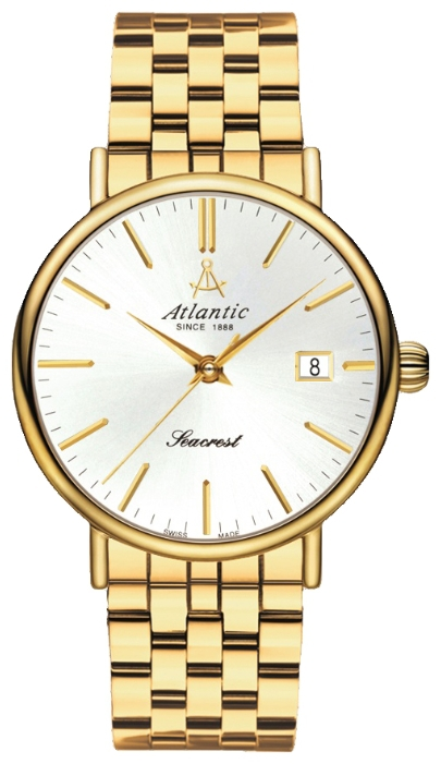 Atlantic 50356.45.21 - мужские наручные часы из коллекции SeacrestAtlantic<br><br><br>Бренд: Atlantic<br>Модель: Atlantic 50356.45.21<br>Артикул: 50356.45.21<br>Вариант артикула: None<br>Коллекция: Seacrest<br>Подколлекция: None<br>Страна: Швейцария<br>Пол: мужские<br>Тип механизма: кварцевые<br>Механизм: ETA 955.112<br>Количество камней: None<br>Автоподзавод: None<br>Источник энергии: от батарейки<br>Срок службы элемента питания: None<br>Дисплей: стрелки<br>Цифры: отсутствуют<br>Водозащита: WR 50<br>Противоударные: None<br>Материал корпуса: нерж. сталь, PVD покрытие (полное)<br>Материал браслета: нерж. сталь, PVD покрытие (полное)<br>Материал безеля: None<br>Стекло: сапфировое<br>Антибликовое покрытие: None<br>Цвет корпуса: None<br>Цвет браслета: None<br>Цвет циферблата: None<br>Цвет безеля: None<br>Размеры: 38x7 мм<br>Диаметр: None<br>Диаметр корпуса: None<br>Толщина: None<br>Ширина ремешка: None<br>Вес: None<br>Спорт-функции: None<br>Подсветка: None<br>Вставка: None<br>Отображение даты: число<br>Хронограф: None<br>Таймер: None<br>Термометр: None<br>Хронометр: None<br>GPS: None<br>Радиосинхронизация: None<br>Барометр: None<br>Скелетон: None<br>Дополнительная информация: None<br>Дополнительные функции: None