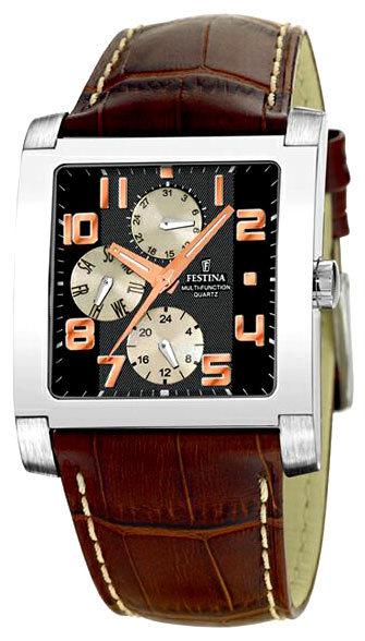 Festina F16235.5 - мужские наручные часы из коллекции MultifunctionFestina<br><br><br>Бренд: Festina<br>Модель: Festina F16235/5<br>Артикул: F16235.5<br>Вариант артикула: None<br>Коллекция: Multifunction<br>Подколлекция: None<br>Страна: Испания<br>Пол: мужские<br>Тип механизма: кварцевые<br>Механизм: None<br>Количество камней: None<br>Автоподзавод: None<br>Источник энергии: None<br>Срок службы элемента питания: None<br>Дисплей: стрелки<br>Цифры: арабские<br>Водозащита: WR 50<br>Противоударные: None<br>Материал корпуса: не указан<br>Материал браслета: кожа<br>Материал безеля: None<br>Стекло: минеральное<br>Антибликовое покрытие: None<br>Цвет корпуса: None<br>Цвет браслета: None<br>Цвет циферблата: None<br>Цвет безеля: None<br>Размеры: 37x37 мм<br>Диаметр: None<br>Диаметр корпуса: None<br>Толщина: None<br>Ширина ремешка: None<br>Вес: None<br>Спорт-функции: None<br>Подсветка: дисплея<br>Вставка: None<br>Отображение даты: день недели<br>Хронограф: None<br>Таймер: None<br>Термометр: None<br>Хронометр: None<br>GPS: None<br>Радиосинхронизация: None<br>Барометр: None<br>Скелетон: None<br>Дополнительная информация: None<br>Дополнительные функции: None