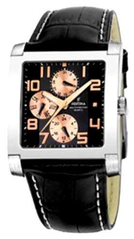 Festina F16235.D - мужские наручные часы из коллекции MultifunctionFestina<br><br><br>Бренд: Festina<br>Модель: Festina F16235/D<br>Артикул: F16235.D<br>Вариант артикула: None<br>Коллекция: Multifunction<br>Подколлекция: None<br>Страна: Испания<br>Пол: мужские<br>Тип механизма: кварцевые<br>Механизм: None<br>Количество камней: None<br>Автоподзавод: None<br>Источник энергии: None<br>Срок службы элемента питания: None<br>Дисплей: стрелки<br>Цифры: арабские<br>Водозащита: WR 50<br>Противоударные: None<br>Материал корпуса: не указан<br>Материал браслета: кожа<br>Материал безеля: None<br>Стекло: минеральное<br>Антибликовое покрытие: None<br>Цвет корпуса: None<br>Цвет браслета: None<br>Цвет циферблата: None<br>Цвет безеля: None<br>Размеры: 37x37 мм<br>Диаметр: None<br>Диаметр корпуса: None<br>Толщина: None<br>Ширина ремешка: None<br>Вес: None<br>Спорт-функции: None<br>Подсветка: дисплея<br>Вставка: None<br>Отображение даты: день недели<br>Хронограф: None<br>Таймер: None<br>Термометр: None<br>Хронометр: None<br>GPS: None<br>Радиосинхронизация: None<br>Барометр: None<br>Скелетон: None<br>Дополнительная информация: None<br>Дополнительные функции: None