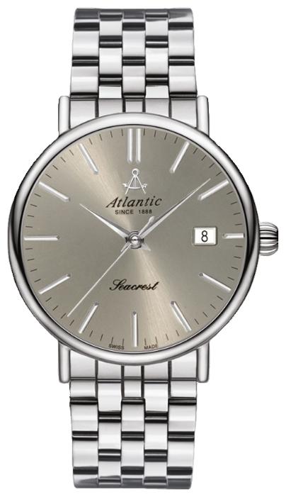 Atlantic 50756.41.41 - мужские наручные часы из коллекции SeacrestAtlantic<br><br><br>Бренд: Atlantic<br>Модель: Atlantic 50756.41.41<br>Артикул: 50756.41.41<br>Вариант артикула: None<br>Коллекция: Seacrest<br>Подколлекция: None<br>Страна: Швейцария<br>Пол: мужские<br>Тип механизма: механические<br>Механизм: ETA 2824-2<br>Количество камней: None<br>Автоподзавод: есть<br>Источник энергии: пружинный механизм<br>Срок службы элемента питания: None<br>Дисплей: стрелки<br>Цифры: отсутствуют<br>Водозащита: WR 50<br>Противоударные: None<br>Материал корпуса: нерж. сталь<br>Материал браслета: нерж. сталь<br>Материал безеля: None<br>Стекло: сапфировое<br>Антибликовое покрытие: None<br>Цвет корпуса: None<br>Цвет браслета: None<br>Цвет циферблата: None<br>Цвет безеля: None<br>Размеры: 38 мм<br>Диаметр: None<br>Диаметр корпуса: None<br>Толщина: None<br>Ширина ремешка: None<br>Вес: None<br>Спорт-функции: None<br>Подсветка: None<br>Вставка: None<br>Отображение даты: число<br>Хронограф: None<br>Таймер: None<br>Термометр: None<br>Хронометр: None<br>GPS: None<br>Радиосинхронизация: None<br>Барометр: None<br>Скелетон: None<br>Дополнительная информация: None<br>Дополнительные функции: None