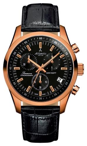Atlantic 65451.44.61 - мужские наручные часы из коллекции SeamoveAtlantic<br><br><br>Бренд: Atlantic<br>Модель: Atlantic 65451.44.61<br>Артикул: 65451.44.61<br>Вариант артикула: None<br>Коллекция: Seamove<br>Подколлекция: None<br>Страна: Швейцария<br>Пол: мужские<br>Тип механизма: кварцевые<br>Механизм: ETA G10.211<br>Количество камней: None<br>Автоподзавод: None<br>Источник энергии: от батарейки<br>Срок службы элемента питания: None<br>Дисплей: стрелки<br>Цифры: отсутствуют<br>Водозащита: WR 50<br>Противоударные: None<br>Материал корпуса: нерж. сталь, PVD покрытие (полное)<br>Материал браслета: кожа<br>Материал безеля: None<br>Стекло: сапфировое<br>Антибликовое покрытие: есть<br>Цвет корпуса: None<br>Цвет браслета: None<br>Цвет циферблата: None<br>Цвет безеля: None<br>Размеры: 42 мм<br>Диаметр: None<br>Диаметр корпуса: None<br>Толщина: None<br>Ширина ремешка: None<br>Вес: None<br>Спорт-функции: секундомер<br>Подсветка: стрелок<br>Вставка: None<br>Отображение даты: число<br>Хронограф: есть<br>Таймер: None<br>Термометр: None<br>Хронометр: None<br>GPS: None<br>Радиосинхронизация: None<br>Барометр: None<br>Скелетон: None<br>Дополнительная информация: None<br>Дополнительные функции: None