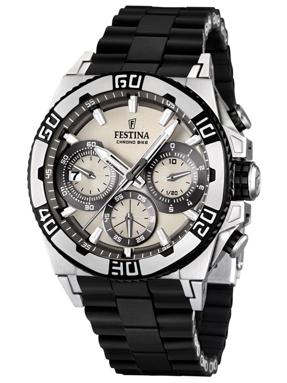 Festina F16659.1 - мужские наручные часы из коллекции Chrono BikeFestina<br><br><br>Бренд: Festina<br>Модель: Festina F16659/1<br>Артикул: F16659.1<br>Вариант артикула: None<br>Коллекция: Chrono Bike<br>Подколлекция: None<br>Страна: Испания<br>Пол: мужские<br>Тип механизма: кварцевые<br>Механизм: M6S20<br>Количество камней: None<br>Автоподзавод: None<br>Источник энергии: от батарейки<br>Срок службы элемента питания: None<br>Дисплей: стрелки<br>Цифры: отсутствуют<br>Водозащита: WR 100<br>Противоударные: None<br>Материал корпуса: нерж. сталь, PVD покрытие (частичное)<br>Материал браслета: нерж. сталь + силикон<br>Материал безеля: None<br>Стекло: минеральное<br>Антибликовое покрытие: None<br>Цвет корпуса: None<br>Цвет браслета: None<br>Цвет циферблата: None<br>Цвет безеля: None<br>Размеры: 44.5x14 мм<br>Диаметр: None<br>Диаметр корпуса: None<br>Толщина: None<br>Ширина ремешка: None<br>Вес: 155 г<br>Спорт-функции: секундомер<br>Подсветка: стрелок<br>Вставка: None<br>Отображение даты: число<br>Хронограф: есть<br>Таймер: None<br>Термометр: None<br>Хронометр: None<br>GPS: None<br>Радиосинхронизация: None<br>Барометр: None<br>Скелетон: None<br>Дополнительная информация: None<br>Дополнительные функции: None