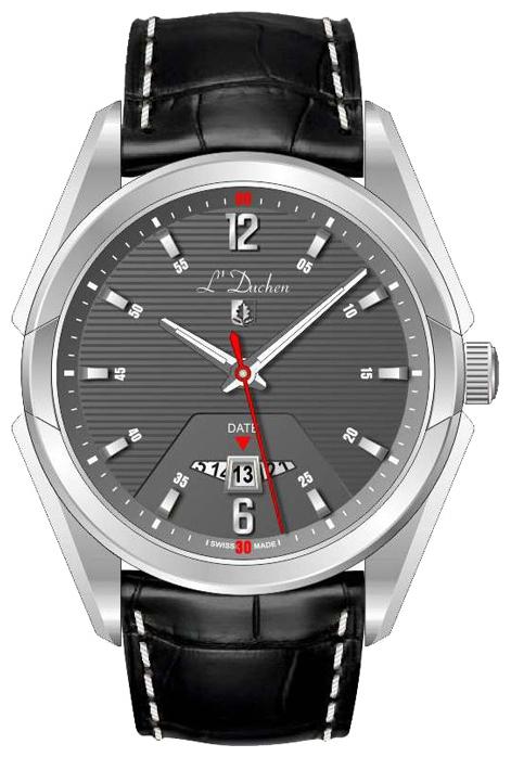 L Duchen D 191.11.12 - мужские наручные часыLDuchen<br><br><br>Бренд: L Duchen<br>Модель: L Duchen D191.11.12<br>Артикул: D 191.11.12<br>Вариант артикула: None<br>Коллекция: None<br>Подколлекция: None<br>Страна: Швейцария<br>Пол: мужские<br>Тип механизма: кварцевые<br>Механизм: None<br>Количество камней: None<br>Автоподзавод: None<br>Источник энергии: от батарейки<br>Срок службы элемента питания: None<br>Дисплей: стрелки<br>Цифры: арабские<br>Водозащита: WR 50<br>Противоударные: None<br>Материал корпуса: нерж. сталь<br>Материал браслета: кожа<br>Материал безеля: None<br>Стекло: сапфировое<br>Антибликовое покрытие: None<br>Цвет корпуса: None<br>Цвет браслета: None<br>Цвет циферблата: None<br>Цвет безеля: None<br>Размеры: None<br>Диаметр: None<br>Диаметр корпуса: None<br>Толщина: None<br>Ширина ремешка: None<br>Вес: None<br>Спорт-функции: None<br>Подсветка: стрелок<br>Вставка: None<br>Отображение даты: число<br>Хронограф: None<br>Таймер: None<br>Термометр: None<br>Хронометр: None<br>GPS: None<br>Радиосинхронизация: None<br>Барометр: None<br>Скелетон: None<br>Дополнительная информация: None<br>Дополнительные функции: None
