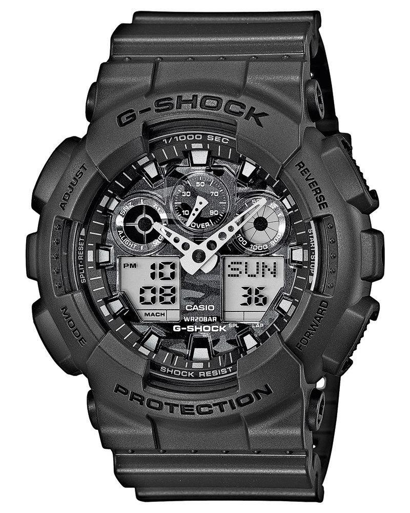 Casio G-SHOCK GA-100CF-8A / GA-100CF-8AER - мужские наручные часыCasio<br><br><br>Бренд: Casio<br>Модель: Casio GA-100CF-8A<br>Артикул: GA-100CF-8A<br>Вариант артикула: GA-100CF-8AER<br>Коллекция: G-SHOCK<br>Подколлекция: None<br>Страна: Япония<br>Пол: мужские<br>Тип механизма: кварцевые<br>Механизм: None<br>Количество камней: None<br>Автоподзавод: None<br>Источник энергии: от батарейки<br>Срок службы элемента питания: None<br>Дисплей: стрелки + цифры<br>Цифры: отсутствуют<br>Водозащита: WR 200<br>Противоударные: есть<br>Материал корпуса: пластик<br>Материал браслета: пластик<br>Материал безеля: None<br>Стекло: минеральное<br>Антибликовое покрытие: None<br>Цвет корпуса: None<br>Цвет браслета: None<br>Цвет циферблата: None<br>Цвет безеля: None<br>Размеры: 51.2x55x16.9 мм<br>Диаметр: None<br>Диаметр корпуса: None<br>Толщина: None<br>Ширина ремешка: None<br>Вес: 70 г<br>Спорт-функции: секундомер, таймер обратного отсчета<br>Подсветка: дисплея, стрелок<br>Вставка: None<br>Отображение даты: вечный календарь, число, месяц, день недели<br>Хронограф: None<br>Таймер: None<br>Термометр: None<br>Хронометр: None<br>GPS: None<br>Радиосинхронизация: None<br>Барометр: None<br>Скелетон: None<br>Дополнительная информация: автоподсветка, повтор сигнала будильника, ежечасный сигнал, защитная функция антимагнит, элемент питания CR1220, срок службы батарейки 2 года<br>Дополнительные функции: второй часовой пояс, будильник (количество установок: 5)
