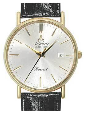 Atlantic 50341.45.21 - мужские наручные часы из коллекции SeacrestAtlantic<br><br><br>Бренд: Atlantic<br>Модель: Atlantic 50341.45.21<br>Артикул: 50341.45.21<br>Вариант артикула: None<br>Коллекция: Seacrest<br>Подколлекция: None<br>Страна: Швейцария<br>Пол: мужские<br>Тип механизма: кварцевые<br>Механизм: ETA F06.111<br>Количество камней: None<br>Автоподзавод: None<br>Источник энергии: от батарейки<br>Срок службы элемента питания: None<br>Дисплей: стрелки<br>Цифры: отсутствуют<br>Водозащита: WR 30<br>Противоударные: None<br>Материал корпуса: нерж. сталь<br>Материал браслета: кожа<br>Материал безеля: None<br>Стекло: сапфировое<br>Антибликовое покрытие: None<br>Цвет корпуса: None<br>Цвет браслета: None<br>Цвет циферблата: None<br>Цвет безеля: None<br>Размеры: 38x38 мм<br>Диаметр: None<br>Диаметр корпуса: None<br>Толщина: None<br>Ширина ремешка: None<br>Вес: None<br>Спорт-функции: None<br>Подсветка: None<br>Вставка: None<br>Отображение даты: число<br>Хронограф: None<br>Таймер: None<br>Термометр: None<br>Хронометр: None<br>GPS: None<br>Радиосинхронизация: None<br>Барометр: None<br>Скелетон: None<br>Дополнительная информация: None<br>Дополнительные функции: None