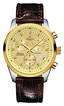 Atlantic 65451.43.31 - мужские наручные часы из коллекции SeamoveAtlantic<br><br><br>Бренд: Atlantic<br>Модель: Atlantic 65451.43.31<br>Артикул: 65451.43.31<br>Вариант артикула: None<br>Коллекция: Seamove<br>Подколлекция: None<br>Страна: Швейцария<br>Пол: мужские<br>Тип механизма: кварцевые<br>Механизм: None<br>Количество камней: None<br>Автоподзавод: None<br>Источник энергии: от батарейки<br>Срок службы элемента питания: None<br>Дисплей: стрелки<br>Цифры: отсутствуют<br>Водозащита: WR 50<br>Противоударные: None<br>Материал корпуса: нерж. сталь, PVD покрытие: позолота (частичное)<br>Материал браслета: кожа<br>Материал безеля: None<br>Стекло: сапфировое<br>Антибликовое покрытие: None<br>Цвет корпуса: None<br>Цвет браслета: None<br>Цвет циферблата: None<br>Цвет безеля: None<br>Размеры: 42 мм<br>Диаметр: None<br>Диаметр корпуса: None<br>Толщина: None<br>Ширина ремешка: None<br>Вес: None<br>Спорт-функции: секундомер<br>Подсветка: стрелок<br>Вставка: None<br>Отображение даты: число<br>Хронограф: есть<br>Таймер: None<br>Термометр: None<br>Хронометр: None<br>GPS: None<br>Радиосинхронизация: None<br>Барометр: None<br>Скелетон: None<br>Дополнительная информация: None<br>Дополнительные функции: None