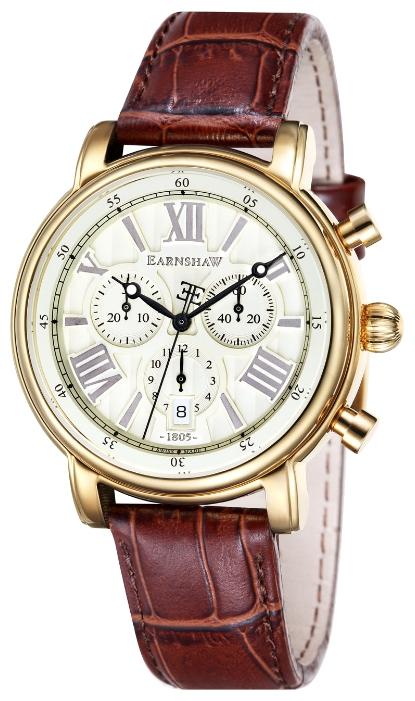 Thomas Earnshaw ES-0016-03 - мужские наручные часы из коллекции LongcaseThomas Earnshaw<br><br><br>Бренд: Thomas Earnshaw<br>Модель: Thomas Earnshaw ES-0016-03<br>Артикул: ES-0016-03<br>Вариант артикула: None<br>Коллекция: Longcase<br>Подколлекция: None<br>Страна: Великобритания<br>Пол: мужские<br>Тип механизма: кварцевые<br>Механизм: None<br>Количество камней: None<br>Автоподзавод: None<br>Источник энергии: от батарейки<br>Срок службы элемента питания: None<br>Дисплей: стрелки<br>Цифры: римские<br>Водозащита: WR 50<br>Противоударные: None<br>Материал корпуса: нерж. сталь, полное покрытие корпуса<br>Материал браслета: кожа<br>Материал безеля: None<br>Стекло: минеральное<br>Антибликовое покрытие: None<br>Цвет корпуса: None<br>Цвет браслета: None<br>Цвет циферблата: None<br>Цвет безеля: None<br>Размеры: 43 мм<br>Диаметр: None<br>Диаметр корпуса: None<br>Толщина: None<br>Ширина ремешка: None<br>Вес: None<br>Спорт-функции: секундомер<br>Подсветка: стрелок<br>Вставка: None<br>Отображение даты: число<br>Хронограф: есть<br>Таймер: None<br>Термометр: None<br>Хронометр: None<br>GPS: None<br>Радиосинхронизация: None<br>Барометр: None<br>Скелетон: None<br>Дополнительная информация: None<br>Дополнительные функции: None
