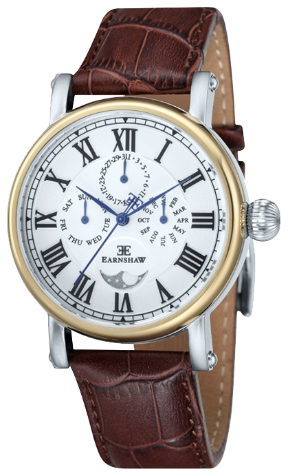 Thomas Earnshaw ES-8031-02 - мужские наручные часы из коллекции MaskelyneThomas Earnshaw<br><br><br>Бренд: Thomas Earnshaw<br>Модель: Thomas Earnshaw ES-8031-02<br>Артикул: ES-8031-02<br>Вариант артикула: None<br>Коллекция: Maskelyne<br>Подколлекция: None<br>Страна: Великобритания<br>Пол: мужские<br>Тип механизма: кварцевые<br>Механизм: None<br>Количество камней: None<br>Автоподзавод: None<br>Источник энергии: от батарейки<br>Срок службы элемента питания: None<br>Дисплей: стрелки<br>Цифры: римские<br>Водозащита: WR 50<br>Противоударные: None<br>Материал корпуса: нерж. сталь, IP покрытие (частичное)<br>Материал браслета: кожа<br>Материал безеля: None<br>Стекло: минеральное<br>Антибликовое покрытие: None<br>Цвет корпуса: None<br>Цвет браслета: None<br>Цвет циферблата: None<br>Цвет безеля: None<br>Размеры: 42 мм<br>Диаметр: None<br>Диаметр корпуса: None<br>Толщина: None<br>Ширина ремешка: None<br>Вес: None<br>Спорт-функции: None<br>Подсветка: None<br>Вставка: None<br>Отображение даты: число, месяц, день недели<br>Хронограф: None<br>Таймер: None<br>Термометр: None<br>Хронометр: None<br>GPS: None<br>Радиосинхронизация: None<br>Барометр: None<br>Скелетон: None<br>Дополнительная информация: None<br>Дополнительные функции: указатель фаз луны