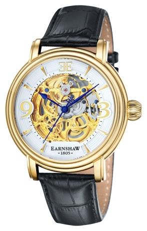 Thomas Earnshaw ES-8011-04 - мужские наручные часы из коллекции LongcaseThomas Earnshaw<br><br><br>Бренд: Thomas Earnshaw<br>Модель: Thomas Earnshaw ES-8011-04<br>Артикул: ES-8011-04<br>Вариант артикула: None<br>Коллекция: Longcase<br>Подколлекция: None<br>Страна: Великобритания<br>Пол: мужские<br>Тип механизма: механические<br>Механизм: None<br>Количество камней: None<br>Автоподзавод: None<br>Источник энергии: пружинный механизм<br>Срок службы элемента питания: None<br>Дисплей: стрелки<br>Цифры: арабские<br>Водозащита: WR 50<br>Противоударные: None<br>Материал корпуса: нерж. сталь, IP покрытие: позолота (полное)<br>Материал браслета: кожа<br>Материал безеля: None<br>Стекло: минеральное<br>Антибликовое покрытие: None<br>Цвет корпуса: None<br>Цвет браслета: None<br>Цвет циферблата: None<br>Цвет безеля: None<br>Размеры: 48 мм<br>Диаметр: None<br>Диаметр корпуса: None<br>Толщина: None<br>Ширина ремешка: None<br>Вес: None<br>Спорт-функции: None<br>Подсветка: None<br>Вставка: None<br>Отображение даты: None<br>Хронограф: None<br>Таймер: None<br>Термометр: None<br>Хронометр: None<br>GPS: None<br>Радиосинхронизация: None<br>Барометр: None<br>Скелетон: да<br>Дополнительная информация: None<br>Дополнительные функции: None