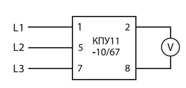 Кпу11-10/67 (v: 0-l1l2-l2l3-l1l3) tdm