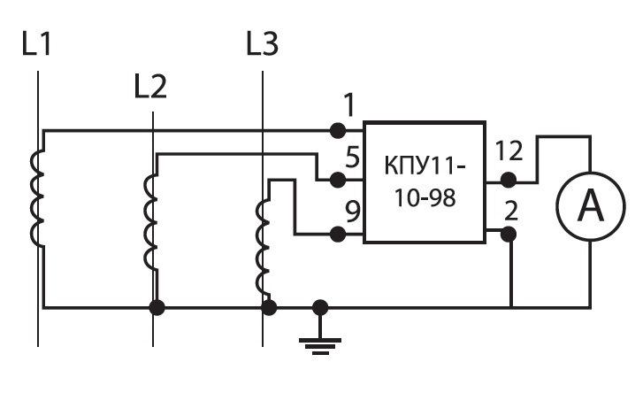 КПУ11-10/98 (A: 0-L1-L2-L3)