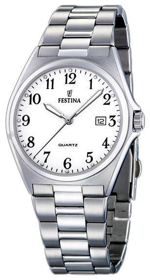 Festina F16374.1 - мужские наручные часы из коллекции ClassicFestina<br><br><br>Бренд: Festina<br>Модель: Festina F16374/1<br>Артикул: F16374.1<br>Вариант артикула: None<br>Коллекция: Classic<br>Подколлекция: None<br>Страна: Испания<br>Пол: мужские<br>Тип механизма: кварцевые<br>Механизм: None<br>Количество камней: None<br>Автоподзавод: None<br>Источник энергии: от батарейки<br>Срок службы элемента питания: None<br>Дисплей: стрелки<br>Цифры: арабские<br>Водозащита: WR 50<br>Противоударные: None<br>Материал корпуса: нерж. сталь<br>Материал браслета: не указан<br>Материал безеля: None<br>Стекло: минеральное<br>Антибликовое покрытие: None<br>Цвет корпуса: None<br>Цвет браслета: None<br>Цвет циферблата: None<br>Цвет безеля: None<br>Размеры: 40x40x7 мм<br>Диаметр: None<br>Диаметр корпуса: None<br>Толщина: None<br>Ширина ремешка: None<br>Вес: None<br>Спорт-функции: None<br>Подсветка: стрелок<br>Вставка: None<br>Отображение даты: число<br>Хронограф: None<br>Таймер: None<br>Термометр: None<br>Хронометр: None<br>GPS: None<br>Радиосинхронизация: None<br>Барометр: None<br>Скелетон: None<br>Дополнительная информация: None<br>Дополнительные функции: None