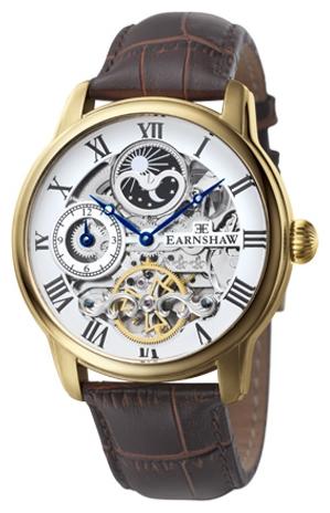 Thomas Earnshaw ES-8006-02 - мужские наручные часы из коллекции LongitudeThomas Earnshaw<br><br><br>Бренд: Thomas Earnshaw<br>Модель: Thomas Earnshaw ES-8006-02<br>Артикул: ES-8006-02<br>Вариант артикула: None<br>Коллекция: Longitude<br>Подколлекция: None<br>Страна: Великобритания<br>Пол: мужские<br>Тип механизма: механические<br>Механизм: None<br>Количество камней: None<br>Автоподзавод: None<br>Источник энергии: пружинный механизм<br>Срок службы элемента питания: None<br>Дисплей: стрелки<br>Цифры: римские<br>Водозащита: WR 50<br>Противоударные: None<br>Материал корпуса: нерж. сталь, IP покрытие: позолота (полное)<br>Материал браслета: кожа<br>Материал безеля: None<br>Стекло: минеральное<br>Антибликовое покрытие: None<br>Цвет корпуса: None<br>Цвет браслета: None<br>Цвет циферблата: None<br>Цвет безеля: None<br>Размеры: 44 мм<br>Диаметр: None<br>Диаметр корпуса: None<br>Толщина: None<br>Ширина ремешка: None<br>Вес: None<br>Спорт-функции: None<br>Подсветка: None<br>Вставка: None<br>Отображение даты: None<br>Хронограф: None<br>Таймер: None<br>Термометр: None<br>Хронометр: None<br>GPS: None<br>Радиосинхронизация: None<br>Барометр: None<br>Скелетон: да<br>Дополнительная информация: индикатор день/ночь<br>Дополнительные функции: второй часовой пояс