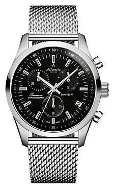 Atlantic 65456.41.61 - мужские наручные часы из коллекции SeamoveAtlantic<br><br><br>Бренд: Atlantic<br>Модель: Atlantic 65456.41.61<br>Артикул: 65456.41.61<br>Вариант артикула: None<br>Коллекция: Seamove<br>Подколлекция: None<br>Страна: Швейцария<br>Пол: мужские<br>Тип механизма: кварцевые<br>Механизм: ETA G10.211<br>Количество камней: None<br>Автоподзавод: None<br>Источник энергии: от батарейки<br>Срок службы элемента питания: None<br>Дисплей: стрелки<br>Цифры: отсутствуют<br>Водозащита: WR 50<br>Противоударные: None<br>Материал корпуса: нерж. сталь<br>Материал браслета: нерж. сталь<br>Материал безеля: None<br>Стекло: сапфировое<br>Антибликовое покрытие: None<br>Цвет корпуса: None<br>Цвет браслета: None<br>Цвет циферблата: None<br>Цвет безеля: None<br>Размеры: 42x11 мм<br>Диаметр: None<br>Диаметр корпуса: None<br>Толщина: None<br>Ширина ремешка: None<br>Вес: None<br>Спорт-функции: секундомер<br>Подсветка: стрелок<br>Вставка: None<br>Отображение даты: число<br>Хронограф: есть<br>Таймер: None<br>Термометр: None<br>Хронометр: None<br>GPS: None<br>Радиосинхронизация: None<br>Барометр: None<br>Скелетон: None<br>Дополнительная информация: None<br>Дополнительные функции: None