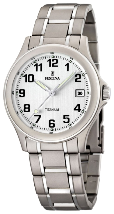 Festina F16459.1 - женские наручные часы из коллекции Calendario TitaniumFestina<br><br><br>Бренд: Festina<br>Модель: Festina F16459/1<br>Артикул: F16459.1<br>Вариант артикула: None<br>Коллекция: Calendario Titanium<br>Подколлекция: None<br>Страна: Испания<br>Пол: женские<br>Тип механизма: кварцевые<br>Механизм: M1N12<br>Количество камней: None<br>Автоподзавод: None<br>Источник энергии: от батарейки<br>Срок службы элемента питания: None<br>Дисплей: стрелки<br>Цифры: арабские<br>Водозащита: WR 30<br>Противоударные: None<br>Материал корпуса: титан<br>Материал браслета: титан<br>Материал безеля: None<br>Стекло: минеральное<br>Антибликовое покрытие: None<br>Цвет корпуса: None<br>Цвет браслета: None<br>Цвет циферблата: None<br>Цвет безеля: None<br>Размеры: 31 мм<br>Диаметр: None<br>Диаметр корпуса: None<br>Толщина: None<br>Ширина ремешка: None<br>Вес: None<br>Спорт-функции: None<br>Подсветка: стрелок<br>Вставка: None<br>Отображение даты: число<br>Хронограф: None<br>Таймер: None<br>Термометр: None<br>Хронометр: None<br>GPS: None<br>Радиосинхронизация: None<br>Барометр: None<br>Скелетон: None<br>Дополнительная информация: None<br>Дополнительные функции: None
