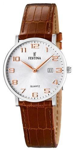 Festina F16477.2 - женские наручные часы из коллекции ClassicFestina<br><br><br>Бренд: Festina<br>Модель: Festina F16477/2<br>Артикул: F16477.2<br>Вариант артикула: None<br>Коллекция: Classic<br>Подколлекция: None<br>Страна: Испания<br>Пол: женские<br>Тип механизма: кварцевые<br>Механизм: None<br>Количество камней: None<br>Автоподзавод: None<br>Источник энергии: от батарейки<br>Срок службы элемента питания: None<br>Дисплей: стрелки<br>Цифры: арабские<br>Водозащита: WR 30<br>Противоударные: None<br>Материал корпуса: нерж. сталь<br>Материал браслета: кожа<br>Материал безеля: None<br>Стекло: минеральное<br>Антибликовое покрытие: None<br>Цвет корпуса: None<br>Цвет браслета: None<br>Цвет циферблата: None<br>Цвет безеля: None<br>Размеры: 30.5x30.5 мм<br>Диаметр: None<br>Диаметр корпуса: None<br>Толщина: None<br>Ширина ремешка: None<br>Вес: None<br>Спорт-функции: None<br>Подсветка: None<br>Вставка: None<br>Отображение даты: число<br>Хронограф: None<br>Таймер: None<br>Термометр: None<br>Хронометр: None<br>GPS: None<br>Радиосинхронизация: None<br>Барометр: None<br>Скелетон: None<br>Дополнительная информация: None<br>Дополнительные функции: None