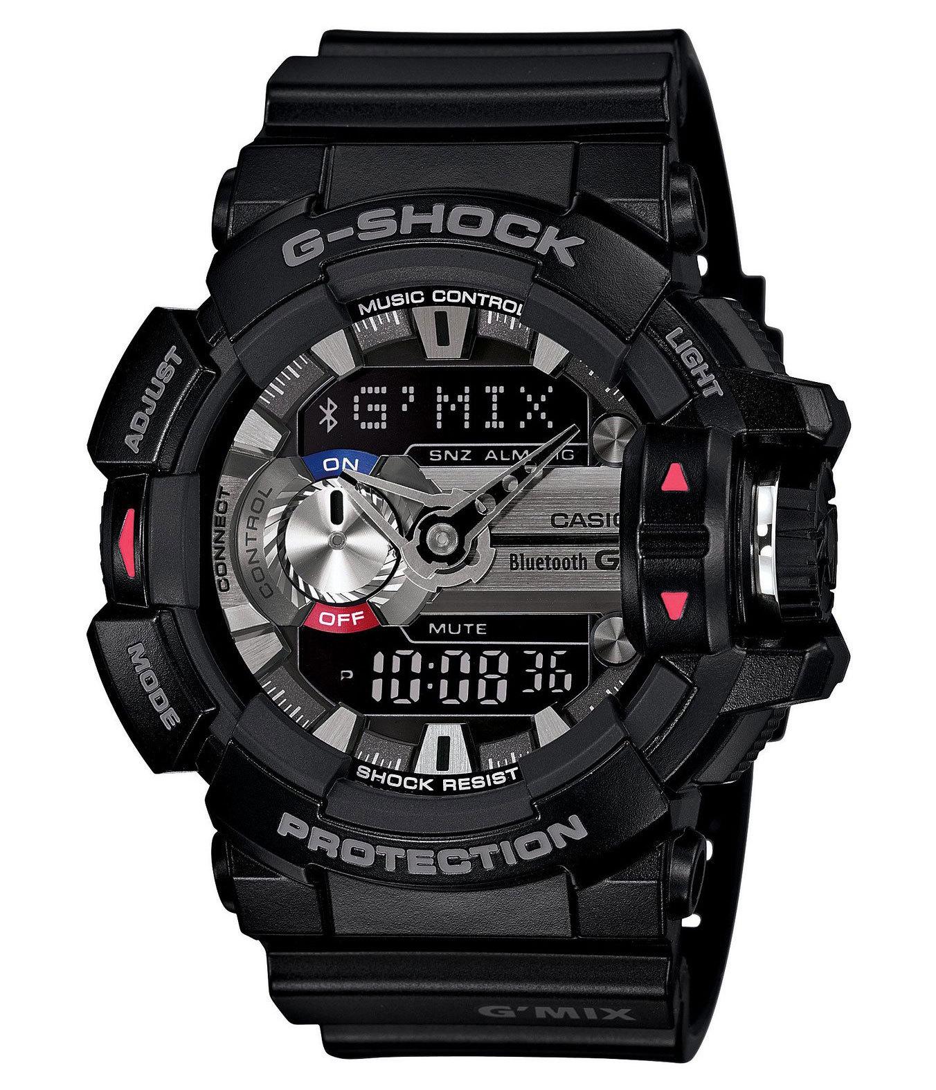 Casio G-SHOCK GBA-400-1A / GBA-400-1AER - мужские наручные часыCasio<br><br><br>Бренд: Casio<br>Модель: Casio GBA-400-1A<br>Артикул: GBA-400-1A<br>Вариант артикула: GBA-400-1AER<br>Коллекция: G-SHOCK<br>Подколлекция: None<br>Страна: Япония<br>Пол: мужские<br>Тип механизма: кварцевые<br>Механизм: None<br>Количество камней: None<br>Автоподзавод: None<br>Источник энергии: от батарейки<br>Срок службы элемента питания: None<br>Дисплей: стрелки + цифры<br>Цифры: отсутствуют<br>Водозащита: WR 200<br>Противоударные: есть<br>Материал корпуса: пластик<br>Материал браслета: пластик<br>Материал безеля: None<br>Стекло: минеральное<br>Антибликовое покрытие: None<br>Цвет корпуса: None<br>Цвет браслета: None<br>Цвет циферблата: None<br>Цвет безеля: None<br>Размеры: 51.9x55x18.3 мм<br>Диаметр: None<br>Диаметр корпуса: None<br>Толщина: None<br>Ширина ремешка: None<br>Вес: 66 г<br>Спорт-функции: секундомер, таймер обратного отсчета<br>Подсветка: дисплея<br>Вставка: None<br>Отображение даты: вечный календарь, число, месяц, день недели<br>Хронограф: None<br>Таймер: None<br>Термометр: None<br>Хронометр: None<br>GPS: None<br>Радиосинхронизация: None<br>Барометр: None<br>Скелетон: None<br>Дополнительная информация: защита от магнитных полей, ежечасный сигнал, повтор сигнала будильника, автоподсветка, функция включения/отключения звука кнопок, авиарежим, функция Flash alert, bluetooth 4.0, элемент питания SR927W ? 2, срок службы батарейки 3 года<br>Дополнительные функции: индикатор запаса хода, второй часовой пояс, будильник (количество установок: 5)