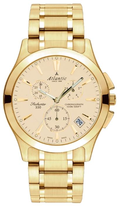 Atlantic 71465.45.31 - мужские наручные часы из коллекции SeahunterAtlantic<br><br><br>Бренд: Atlantic<br>Модель: Atlantic 71465.45.31<br>Артикул: 71465.45.31<br>Вариант артикула: None<br>Коллекция: Seahunter<br>Подколлекция: None<br>Страна: Швейцария<br>Пол: мужские<br>Тип механизма: кварцевые<br>Механизм: ETA G10.211<br>Количество камней: None<br>Автоподзавод: None<br>Источник энергии: от батарейки<br>Срок службы элемента питания: None<br>Дисплей: стрелки<br>Цифры: отсутствуют<br>Водозащита: WR 100<br>Противоударные: None<br>Материал корпуса: нерж. сталь, PVD покрытие (полное)<br>Материал браслета: нерж. сталь, PVD покрытие (полное)<br>Материал безеля: None<br>Стекло: сапфировое<br>Антибликовое покрытие: None<br>Цвет корпуса: None<br>Цвет браслета: None<br>Цвет циферблата: None<br>Цвет безеля: None<br>Размеры: 42 мм<br>Диаметр: None<br>Диаметр корпуса: None<br>Толщина: None<br>Ширина ремешка: None<br>Вес: None<br>Спорт-функции: секундомер<br>Подсветка: стрелок<br>Вставка: None<br>Отображение даты: число<br>Хронограф: есть<br>Таймер: None<br>Термометр: None<br>Хронометр: None<br>GPS: None<br>Радиосинхронизация: None<br>Барометр: None<br>Скелетон: None<br>Дополнительная информация: None<br>Дополнительные функции: None