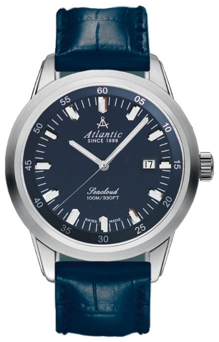 Atlantic 73360.41.51 - мужские наручные часы из коллекции SeacloudAtlantic<br><br><br>Бренд: Atlantic<br>Модель: Atlantic 73360.41.51<br>Артикул: 73360.41.51<br>Вариант артикула: None<br>Коллекция: Seacloud<br>Подколлекция: None<br>Страна: Швейцария<br>Пол: мужские<br>Тип механизма: кварцевые<br>Механизм: ETA F06.111<br>Количество камней: None<br>Автоподзавод: None<br>Источник энергии: от батарейки<br>Срок службы элемента питания: None<br>Дисплей: стрелки<br>Цифры: отсутствуют<br>Водозащита: WR 100<br>Противоударные: None<br>Материал корпуса: нерж. сталь<br>Материал браслета: кожа (теленок)<br>Материал безеля: None<br>Стекло: сапфировое<br>Антибликовое покрытие: есть<br>Цвет корпуса: None<br>Цвет браслета: None<br>Цвет циферблата: None<br>Цвет безеля: None<br>Размеры: 43 мм<br>Диаметр: None<br>Диаметр корпуса: None<br>Толщина: None<br>Ширина ремешка: None<br>Вес: None<br>Спорт-функции: None<br>Подсветка: None<br>Вставка: None<br>Отображение даты: число<br>Хронограф: None<br>Таймер: None<br>Термометр: None<br>Хронометр: None<br>GPS: None<br>Радиосинхронизация: None<br>Барометр: None<br>Скелетон: None<br>Дополнительная информация: None<br>Дополнительные функции: None