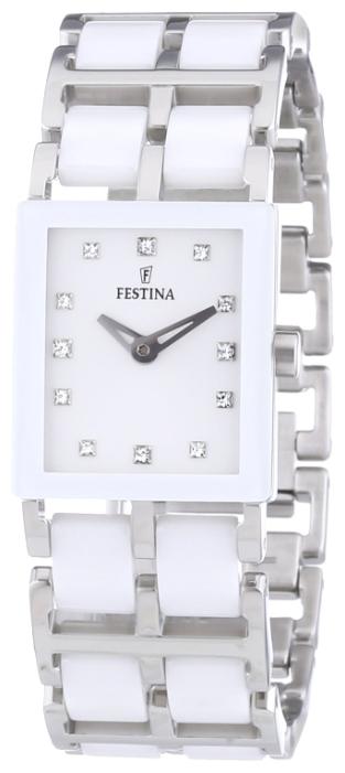 Festina F16625.4 - женские наручные часы из коллекции CeramicFestina<br><br><br>Бренд: Festina<br>Модель: Festina F16625/4<br>Артикул: F16625.4<br>Вариант артикула: None<br>Коллекция: Ceramic<br>Подколлекция: None<br>Страна: Испания<br>Пол: женские<br>Тип механизма: кварцевые<br>Механизм: None<br>Количество камней: None<br>Автоподзавод: None<br>Источник энергии: от батарейки<br>Срок службы элемента питания: None<br>Дисплей: стрелки<br>Цифры: отсутствуют<br>Водозащита: WR 50<br>Противоударные: None<br>Материал корпуса: нерж. сталь + керамика<br>Материал браслета: нерж. сталь + керамика<br>Материал безеля: None<br>Стекло: минеральное<br>Антибликовое покрытие: None<br>Цвет корпуса: None<br>Цвет браслета: None<br>Цвет циферблата: None<br>Цвет безеля: None<br>Размеры: 22 мм<br>Диаметр: None<br>Диаметр корпуса: None<br>Толщина: None<br>Ширина ремешка: None<br>Вес: None<br>Спорт-функции: None<br>Подсветка: None<br>Вставка: циркон<br>Отображение даты: None<br>Хронограф: None<br>Таймер: None<br>Термометр: None<br>Хронометр: None<br>GPS: None<br>Радиосинхронизация: None<br>Барометр: None<br>Скелетон: None<br>Дополнительная информация: None<br>Дополнительные функции: None