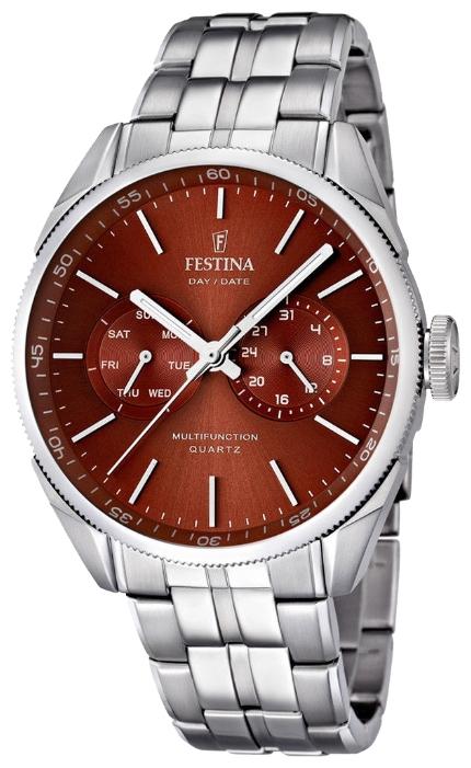 Festina F16630.6 - мужские наручные часы из коллекции MultifunctionFestina<br><br><br>Бренд: Festina<br>Модель: Festina F16630/6<br>Артикул: F16630.6<br>Вариант артикула: None<br>Коллекция: Multifunction<br>Подколлекция: None<br>Страна: Испания<br>Пол: мужские<br>Тип механизма: кварцевые<br>Механизм: M6P25<br>Количество камней: None<br>Автоподзавод: None<br>Источник энергии: от батарейки<br>Срок службы элемента питания: None<br>Дисплей: стрелки<br>Цифры: отсутствуют<br>Водозащита: WR 50<br>Противоударные: None<br>Материал корпуса: нерж. сталь<br>Материал браслета: нерж. сталь<br>Материал безеля: None<br>Стекло: минеральное<br>Антибликовое покрытие: None<br>Цвет корпуса: None<br>Цвет браслета: None<br>Цвет циферблата: None<br>Цвет безеля: None<br>Размеры: 43 мм<br>Диаметр: None<br>Диаметр корпуса: None<br>Толщина: None<br>Ширина ремешка: None<br>Вес: None<br>Спорт-функции: None<br>Подсветка: стрелок<br>Вставка: None<br>Отображение даты: число, день недели<br>Хронограф: None<br>Таймер: None<br>Термометр: None<br>Хронометр: None<br>GPS: None<br>Радиосинхронизация: None<br>Барометр: None<br>Скелетон: None<br>Дополнительная информация: None<br>Дополнительные функции: None