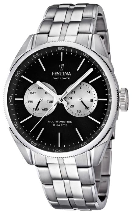 Festina F16630.7 - мужские наручные часы из коллекции MultifunctionFestina<br><br><br>Бренд: Festina<br>Модель: Festina F16630/7<br>Артикул: F16630.7<br>Вариант артикула: None<br>Коллекция: Multifunction<br>Подколлекция: None<br>Страна: Испания<br>Пол: мужские<br>Тип механизма: кварцевые<br>Механизм: M6P25<br>Количество камней: None<br>Автоподзавод: None<br>Источник энергии: от батарейки<br>Срок службы элемента питания: None<br>Дисплей: стрелки<br>Цифры: отсутствуют<br>Водозащита: WR 50<br>Противоударные: None<br>Материал корпуса: нерж. сталь<br>Материал браслета: нерж. сталь<br>Материал безеля: None<br>Стекло: минеральное<br>Антибликовое покрытие: None<br>Цвет корпуса: None<br>Цвет браслета: None<br>Цвет циферблата: None<br>Цвет безеля: None<br>Размеры: 43 мм<br>Диаметр: None<br>Диаметр корпуса: None<br>Толщина: None<br>Ширина ремешка: None<br>Вес: None<br>Спорт-функции: None<br>Подсветка: стрелок<br>Вставка: None<br>Отображение даты: число, день недели<br>Хронограф: None<br>Таймер: None<br>Термометр: None<br>Хронометр: None<br>GPS: None<br>Радиосинхронизация: None<br>Барометр: None<br>Скелетон: None<br>Дополнительная информация: None<br>Дополнительные функции: None